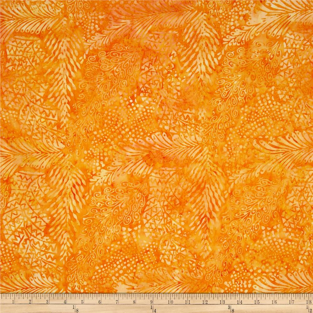 Tonga Batik Garden View Orange