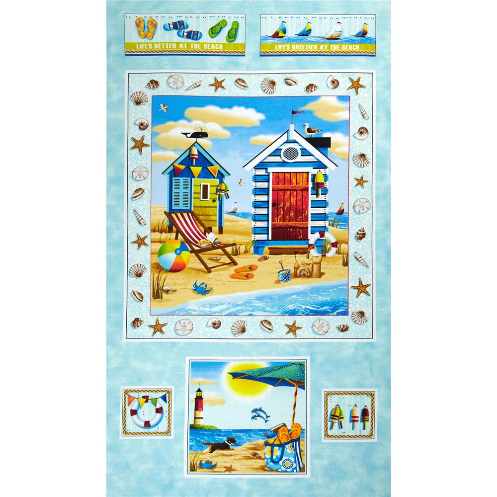 Forever By The Seaside Ocean Panel Blue
