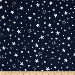 Robert Kaufman Cozy Cotton Flannel Stars Navy