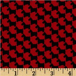 Michael Miller Scottie Houndstooth Red Fabric