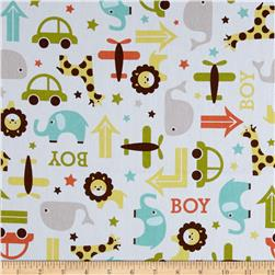 Riley Blake Home Decor Boys Toys White