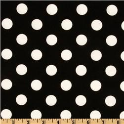 Michael Miller Quarter Dot Black Fabric
