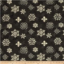 Woodland Holiday Snowflakes Black