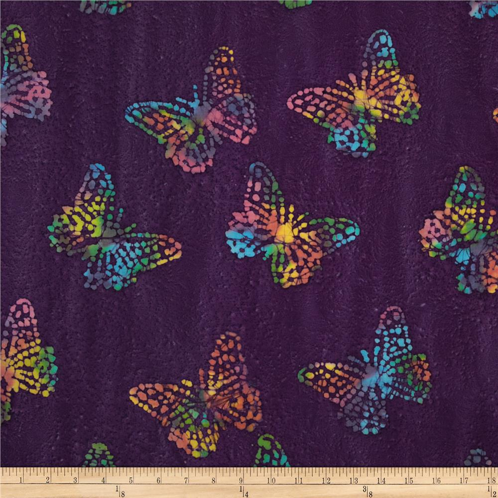 Indian Batik Large Butterfly Purple