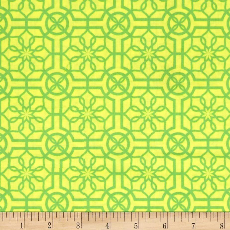 Bahama Breeze Trendy Trellis Yellow/Green