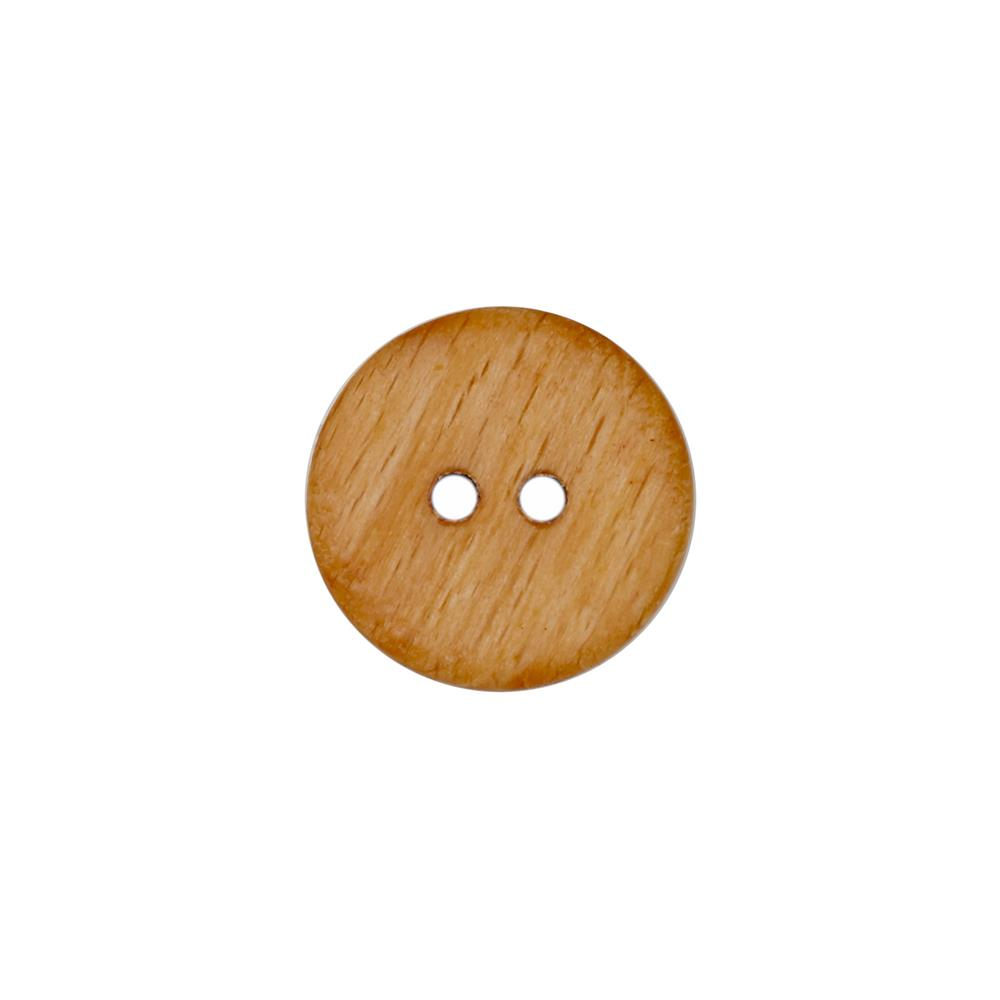 Dill Wooden Button 1 1/8''  Brown