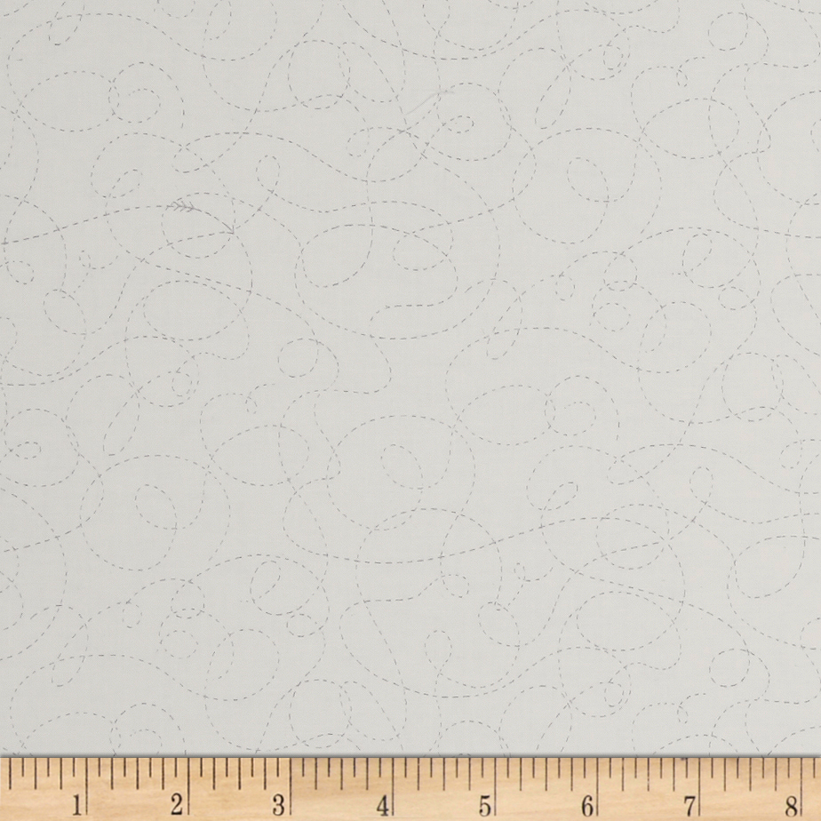 Ink & Arrow Little Buggers Dotted Scroll White Fabric by Quilting Treasures in USA