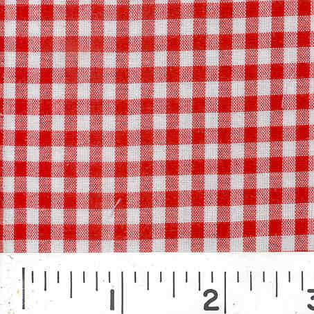 Woven 1/8 Gingham Red