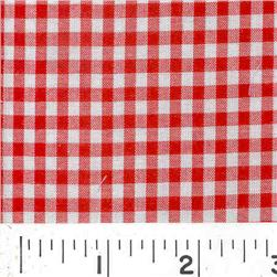 Woven 1/8 Gingham Red Fabric