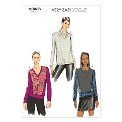 Vogue Misses' Top Pattern V9026 Size 0Y0
