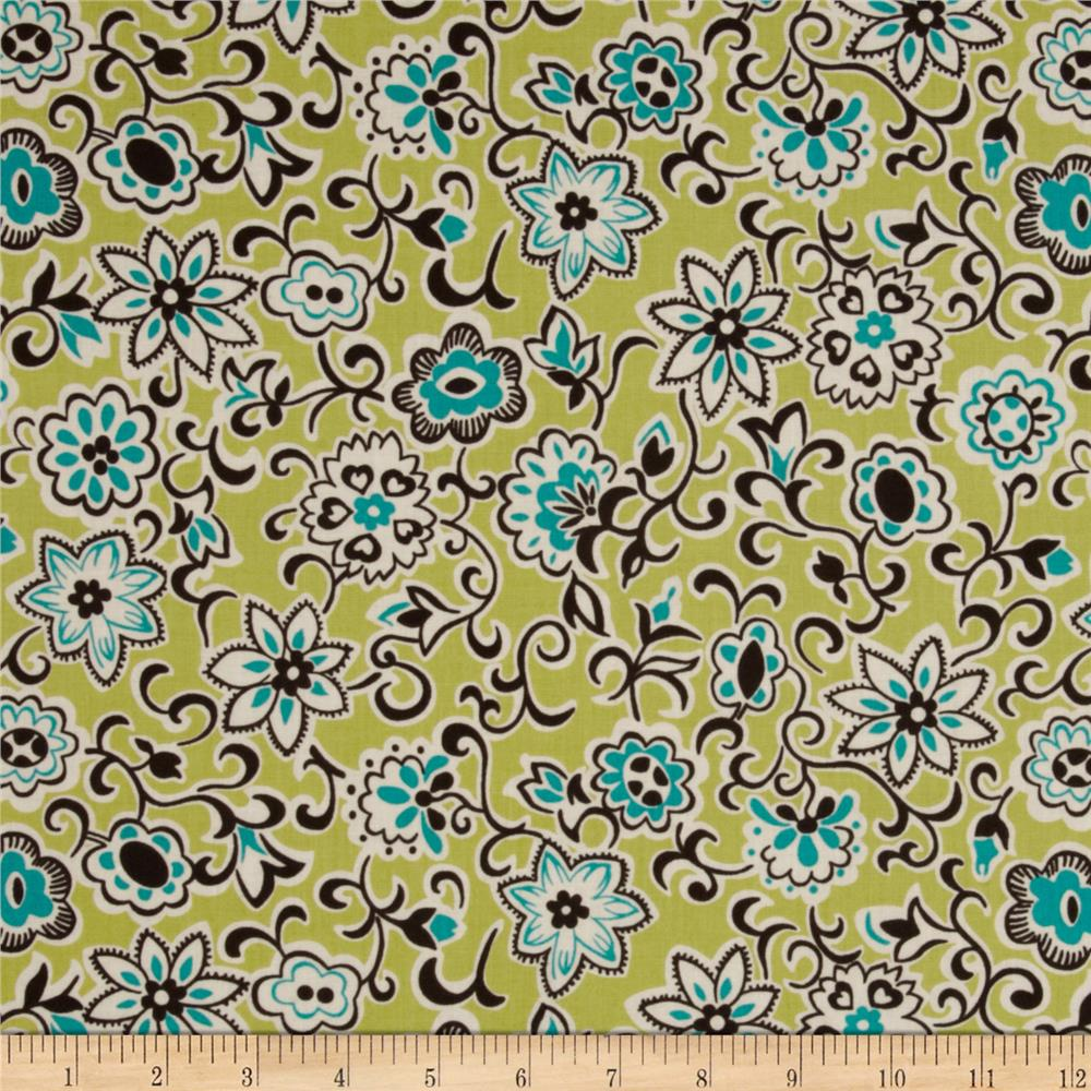 Denyse Schmidt Ansonia Floral Paisley Mossy