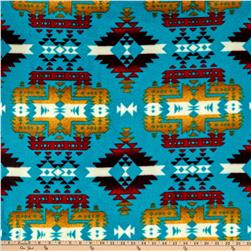 WinterFleece Canyon Turquoise Fabric