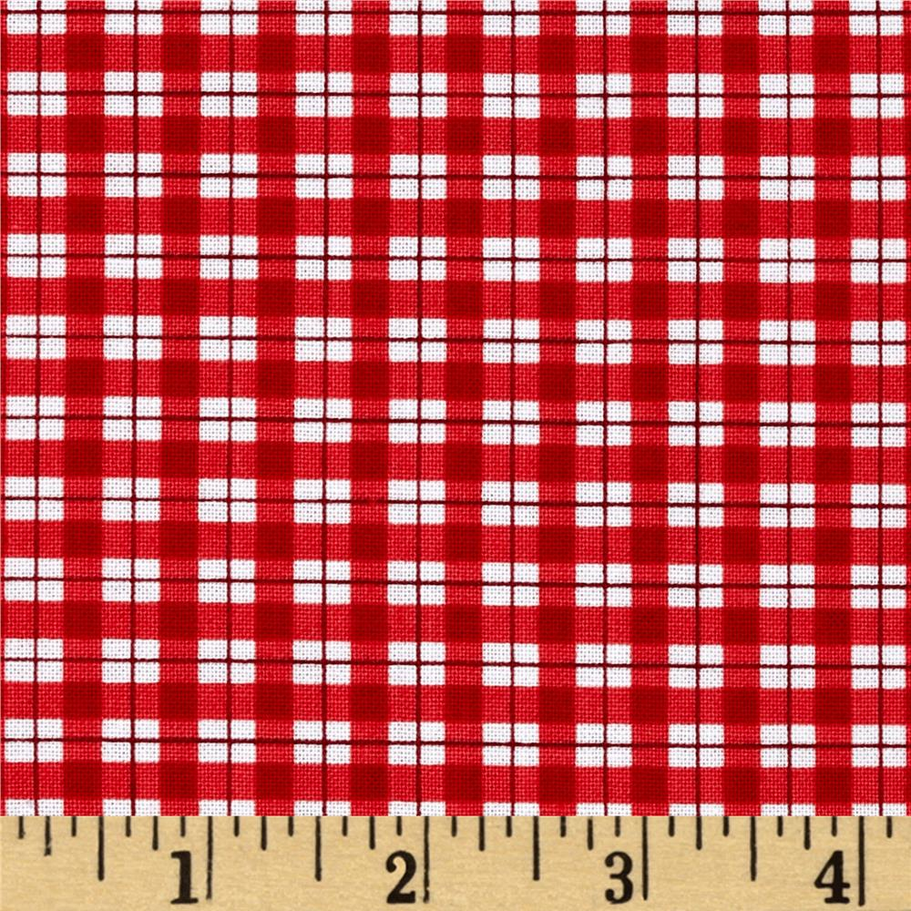Timeless Treasures Jolly Mini Plaid Red