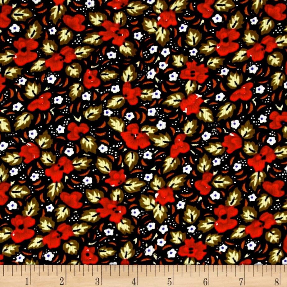 Corduroy Mod Flowers Red