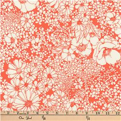 Kaufman Laurel Canyon Tight Floral Poppy