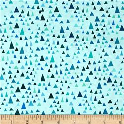 Robert Kaufman In the Bloom Triangles Turquoise