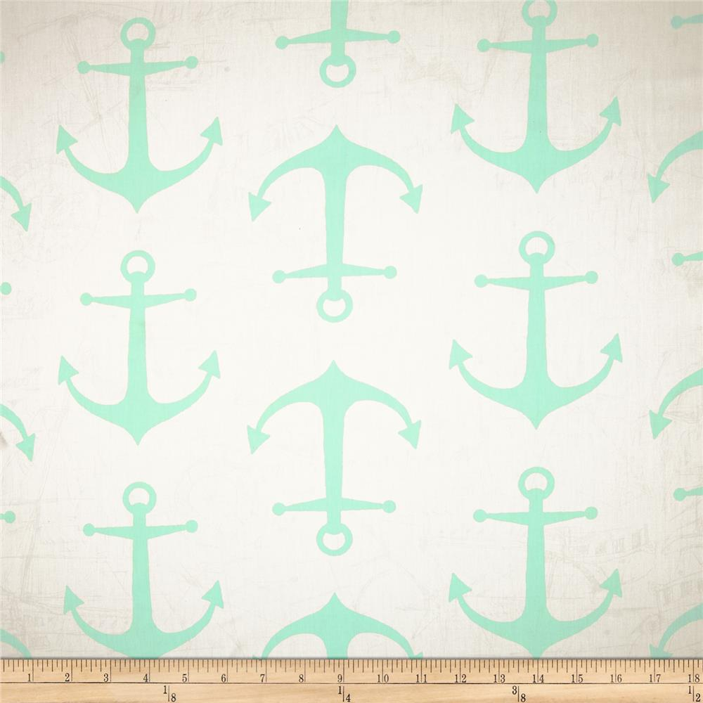 Premier Prints Anchors Twill Mint