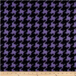 Fleece Houndstooth Purple