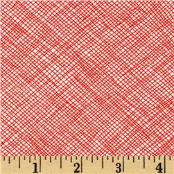 108'' Wide Quilt Backing Widescreen Grid Flame
