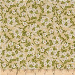 Secret Garden Pretty Primrose Ivory Fabric