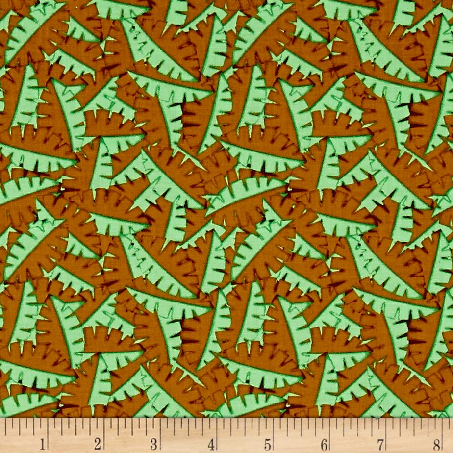 Contempo Dino Age Tossed Leaves Brown/Green