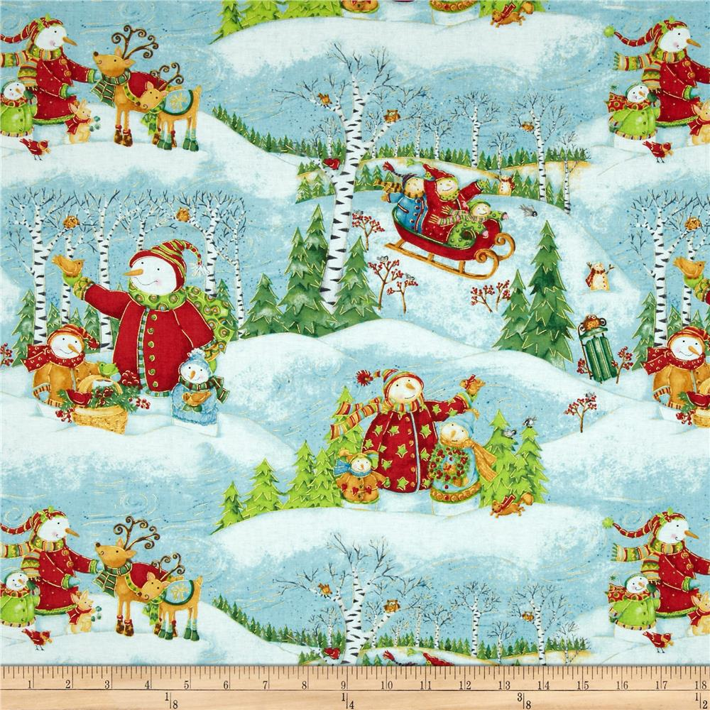 Winter Wonderland Metallic Scenic Multi
