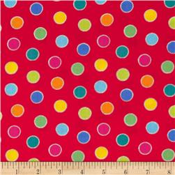 Alphabet Soup Allover Dot Red