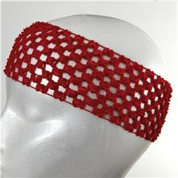 "2 3/4"" Crochet Headband Red"