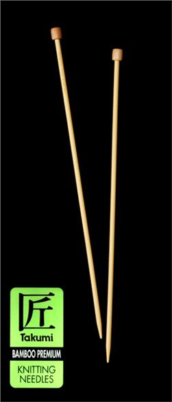 Clover Takumi Bamboo Premium Knitting Needles Single Pt. 13'' -US 10.5 (6.5mm)