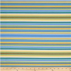 Robert Allen Sunbrella Fiesta Key Stripe Seaspray