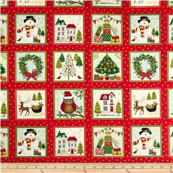 Christmas 2014 Novelty Labels Metallic Red