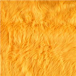 Faux Fur Luxury Shag Neon Yellow