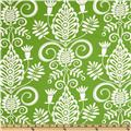 Michael Miller Christmas Large Whimsy Doozie Lawn Green