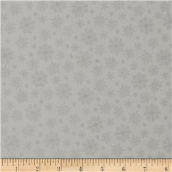 Grace Metallic Snowflakes Silver Grey