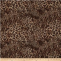 Stretch Rayon Jersey Knit Small Leopard Brown/Black