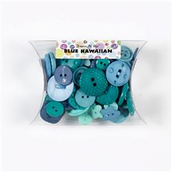Dress It Up Color Me Collection Pillow Pack Buttons Blue Hawaiian