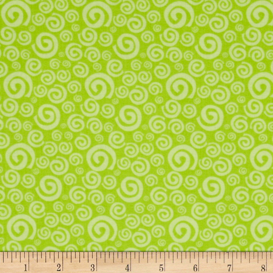 Dream A Little Dream Swirls Lime Fabric