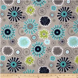Riley Blake Gracie Girl Large Floral Grey
