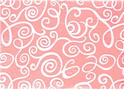 "Fanci Felt 9 x 12"" Craft Cut White Swirl Baby Pink"