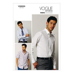 Vogue Men's Shirt Pattern V8889 Size MUU