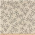 Kaufman Sevenberry Canvas Cotton Flax Prints Geo Black
