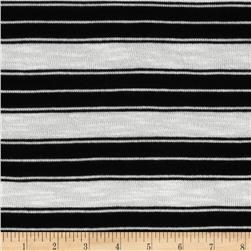 Stretch Yarn Dyed Hatchi Knit Stripes Black/White