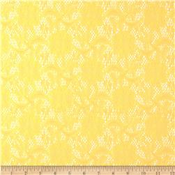 Delicate Crochet Lace Yellow