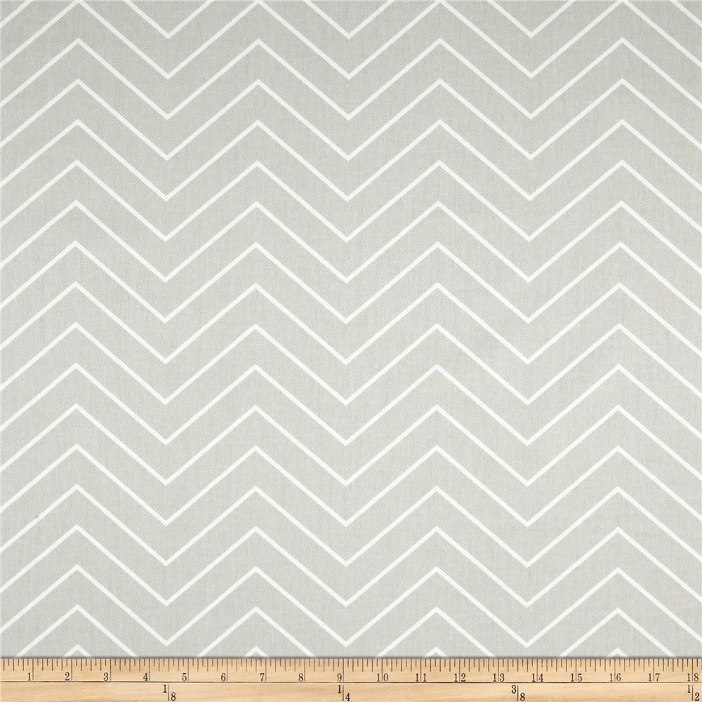Premier Prints Chevron Twill French Grey
