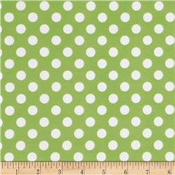 Kimberbell Little One Flannel Too! Flannel Dots Green White
