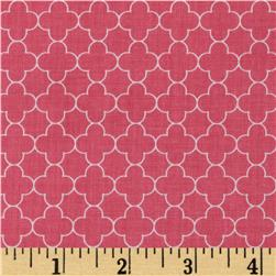 Riley Blake Mini Quatrefoil Hot Pink Fabric
