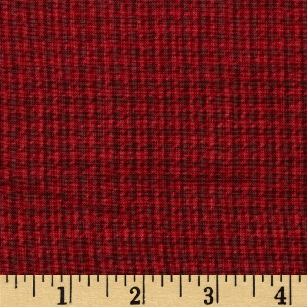 Do You See What I See Book Houndstooth Red