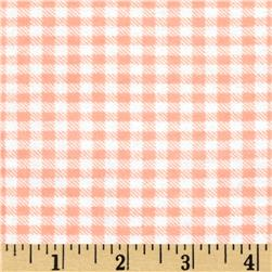 Aunt Polly's Flannel Gingham Apricot/White