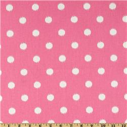 Premier Prints Ikat Dots Pink/Natural Fabric