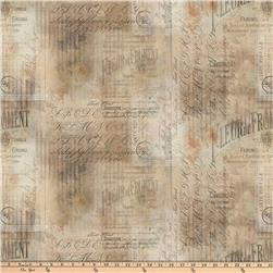 Tim Holtz Eclectic Elements Wallflower Shabby Script Multi